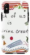 Divine Creation Doodle Quote IPhone X Tough Case