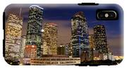 Downtown Houston At Night IPhone X Tough Case