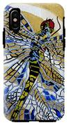 Dragonfly On Gold Scarf IPhone X Tough Case