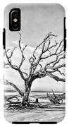 Driftwood Beach - Black And White IPhone X Tough Case