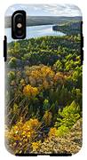 Fall Forest And Lake Top View IPhone X Tough Case