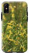 Field Of Lemon Yellow Bugle Flowers IPhone X Tough Case