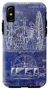 Fire Hose Cart Patent Blue IPhone X Tough Case