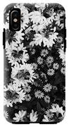 Floral Texture In Black And White IPhone X Tough Case