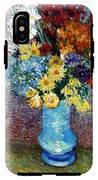 Flowers In A Blue Vase  IPhone X Tough Case