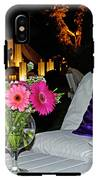 Flowers In A Vase On A White Table IPhone X Tough Case