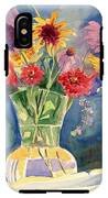 Flowers In Glass Vase IPhone X Tough Case