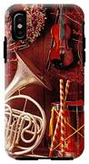French Horn Christmas Still Life IPhone X Tough Case
