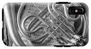 French Horn In Black And White IPhone X Tough Case