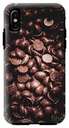 Full Frame Background Of Chocolate Chips IPhone X Tough Case