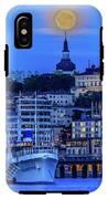 Full Moon Over The Katarina Church And Sodermalm In Stockholm IPhone X Tough Case