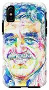 Gabriel Garcia Marquez - Portrait.2 IPhone X Tough Case