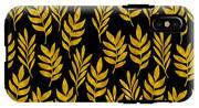 Golden Leaf Pattern IPhone X Tough Case
