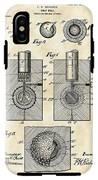 Golf Ball Patent 1902 - Vintage IPhone X Tough Case