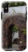 Grapevine Covered Stone Garden Door IPhone X Tough Case