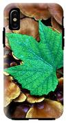 Green Leaf On Fungus IPhone X Tough Case