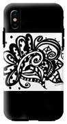 Happy Swirl Doodle IPhone X Tough Case