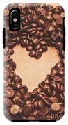 Hearts And Chocolate Drops. Valentines Background IPhone X Tough Case