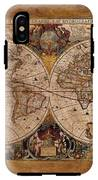 Henry Hondius Seventeenth Century World Map IPhone X Tough Case