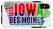 Iowa Watercolor Word Cloud  IPhone X Tough Case
