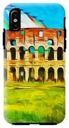 Italian Aerobatics Team Over The Colosseum IPhone X Tough Case
