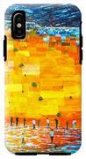 Jerusalem Wailing Wall Original Acrylic Palette Knife Painting IPhone X Tough Case