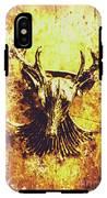 Jewel Deer Head Art IPhone X Tough Case