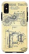 John Deere Tractor Patent Drawing From 1934 - Vintage IPhone X Tough Case