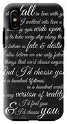 Kiersten White Quote IPhone X Tough Case
