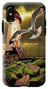 Lighthouse With Seagulls IPhone X Tough Case