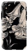 Lilies Black And White II IPhone X Tough Case