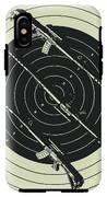 Line Art Rifle Range IPhone X Tough Case