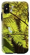 Looking Up To A Beautiful Sunglowing Fern In A Tropical Forest IPhone X Tough Case