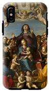 Madonna And Child With Saint Anne And The Patron Saints Of Florence IPhone X Tough Case