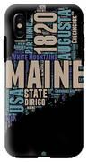 Maine Word Cloud 1 IPhone X Tough Case
