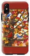 Maple Tree Marvel - Bird Painting IPhone X Tough Case