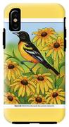 Maryland State Bird Oriole And Daisy Flower IPhone X Tough Case