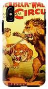 Modern Vintage Circus Poster IPhone X Tough Case
