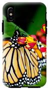Monarch Butterfly At Lunch With 2 Box Elder Bugs IPhone X Tough Case