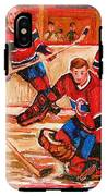 Montreal Forum Hockey Game IPhone X Tough Case