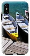 moraine lake in banff national park, alberta, Canada IPhone X Tough Case