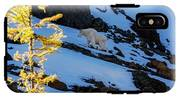 Mountain Goat And Larches IPhone X Tough Case