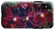 Neon Poinsettias IPhone X Tough Case