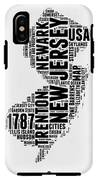 New Jersey Word Cloud 2 IPhone X Tough Case