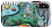 New York Cartoon Map IPhone X Tough Case