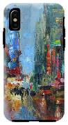 New York City 42nd Street Painting IPhone X Tough Case