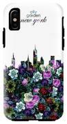 New York Skyline Floral 3 IPhone X Tough Case