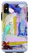 Nude With Yellow Stripe IPhone X Tough Case