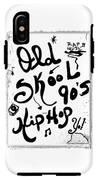 Old-skool 90's Hip-hop IPhone X Tough Case