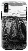 Old Tarred Boat On Holy Island 2 IPhone X Tough Case